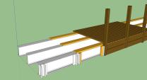 Croquis d'assemblage, passerelle métal/bois