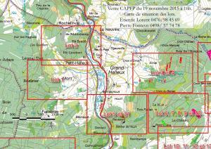 Cartographie des lots