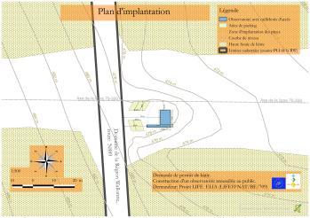 Plan extrait du dossier de permis urbanistique